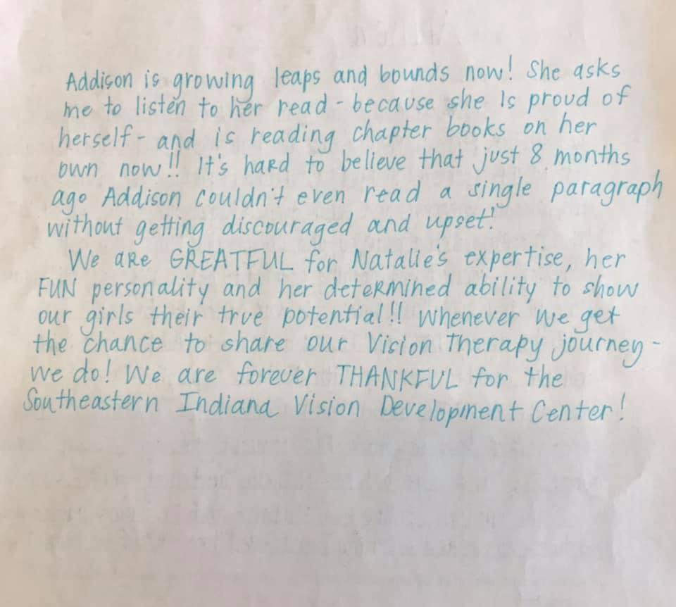 Success Story: Addison parent page 2